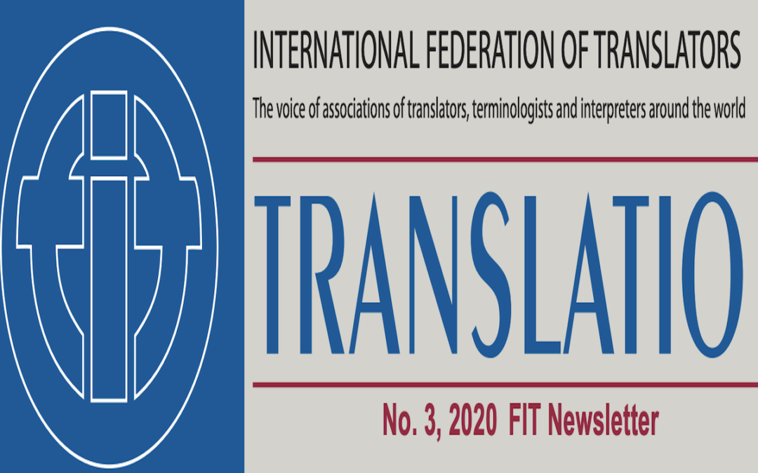 Article by PEM's Vice President on FIT's Translatio